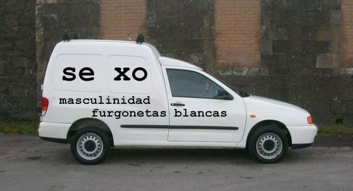 Sexo masculinidad furgonetas blancas by Diego Solana