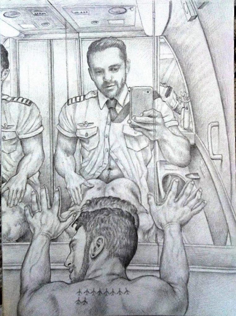 Davidd Batalon. Gay artist at gayartmadrid.com